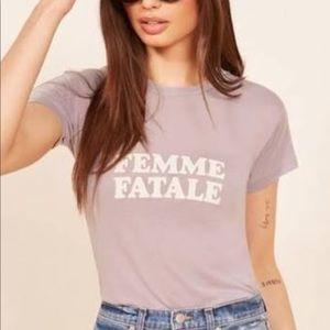 """Lavender """"Femme Fatale"""" Reformation T-shirt"""